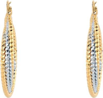 Akshata Golden Charm Alloy Hoop Earring