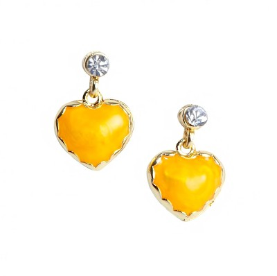 Bezel ME - 41 Golden Yellow Alloy Drop Earring