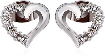 Merastore Princess delight Swarovski Crystal Alloy Stud Earring