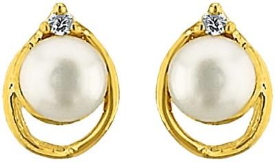 JPearls Glity Mother of Pearl Alloy Stud Earring