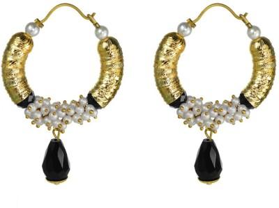 Rasaam TLJ drop black Beads Alloy Hoop Earring