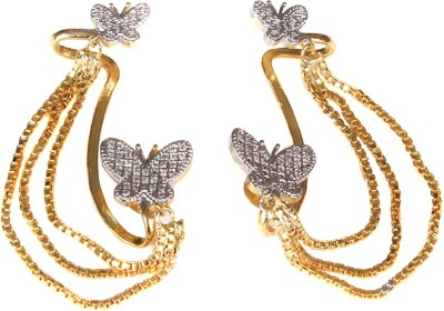 99HomeMart Butterfly Look Cubic Zirconia Alloy Cuff Earring
