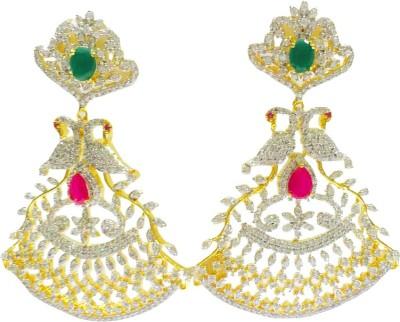 RK Style Gleaming Brass Drop Earring
