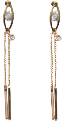 NM Products Sparkle Gold Stainless Steel Drop Earring
