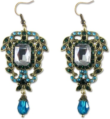 Bling Accessories Spring Sparkle Crystal Brass Drop Earring