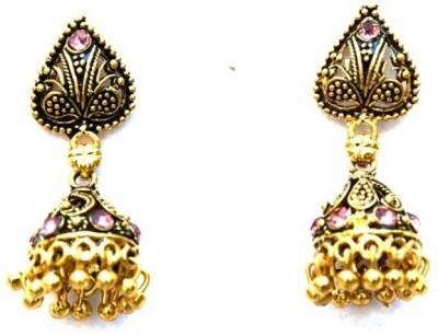 Jodhpuriyas GGP-408(C) Brass Chandelier Earring