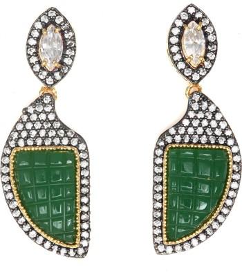 Magiq Scud-Sparkle Stone, Brass Drop Earring