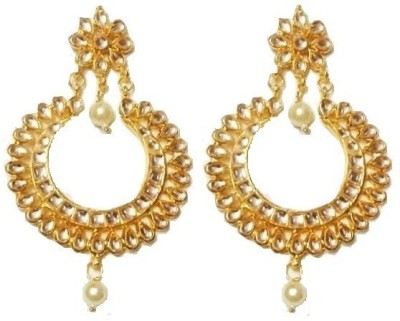 LE Indian Kundan Collection Alloy Chandbali Earring