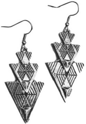 Bling-Bling Three Hanging Triangles Alloy Dangle Earring