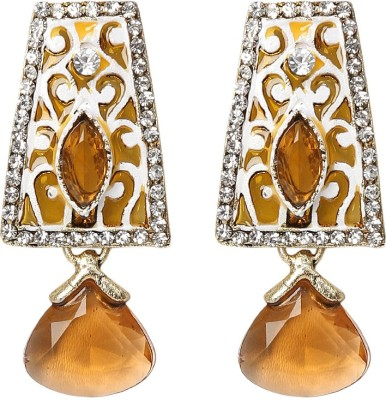 99HomeMart Brown Beauty Cubic Zirconia Metal Drop Earring