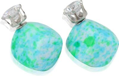Eve's Wardrobe Minty Blue-Green Metal Stud Earring