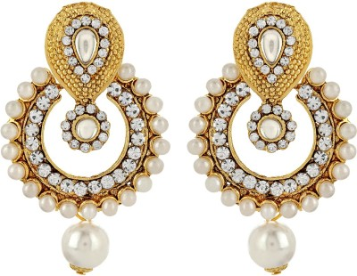 Starindia Pearly Delight Alloy Chandbali Earring