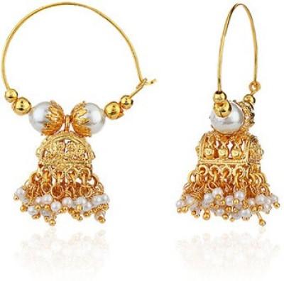 Ratnakar Sanduk Dull Brass Jhumki Earring