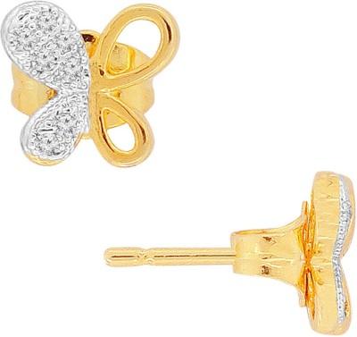 Spargz Butterfly Designer Tops Brass Stud Earring