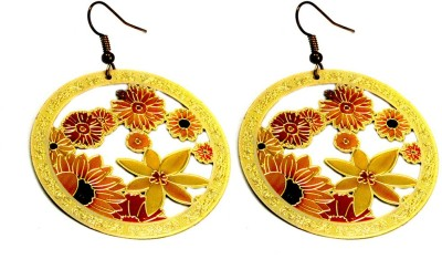Krishna Mart A Pair Of Indian Brass Boho Danglers Earrings Brass Dangle Earring