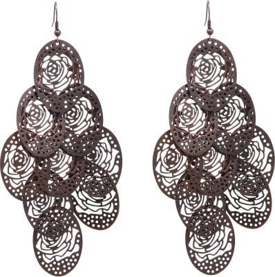 Vanity Roots Hanging Roses Alloy Drop Earring
