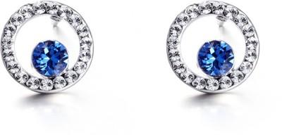 Nevi Classic Swarovski Crystal Metal, Crystal Stud Earring