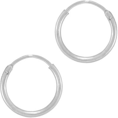 925 Silver Plain Silver Hoop Earring
