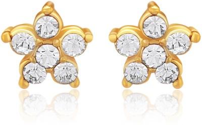 Oviya Aphrodite Rose Crystal Brass, Alloy Stud Earring