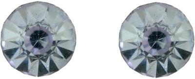 Diovanni Single Stone Stud Purple Crystal, Alloy Stud Earring