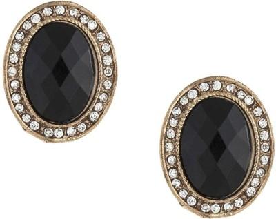 Amroha Crafts Black Asymmetric Alloy, Resin Stud Earring