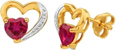 Voylla Love Plain Diamond Sterling Silver Stud Earring