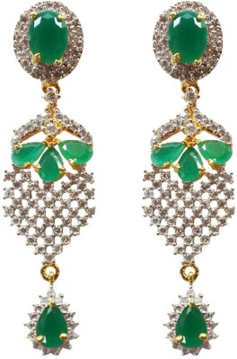 Sheetal Jewellery Cubic Zirconia Brass Drop Earring