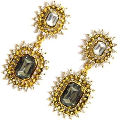 GiftPiper Black & Gold Danglers Alloy Earring Set