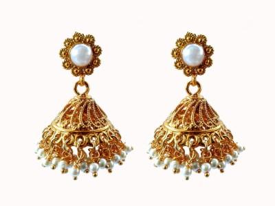 Aashvi Creation Designer Pearl Alloy Jhumki Earring