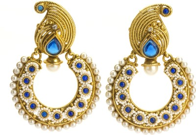 Bejeweled Polki Collection Zircon Copper Chandbali Earring