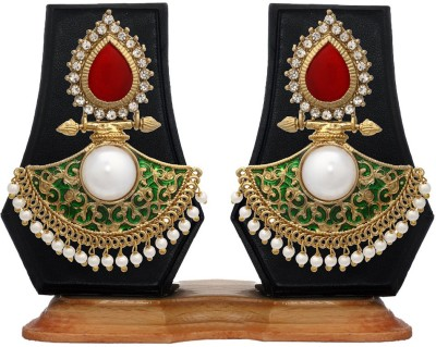 Zaveri Pearls Bollywood Style Carved Zinc Dangle Earring
