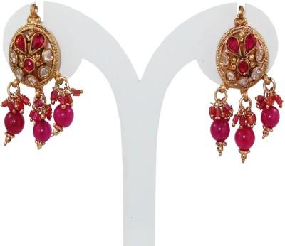 Anjan Appealing Designer Golden Alloy Drop Earring