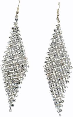 WoW Silver Cubiz Zirconia Crystal Chandelier Earring