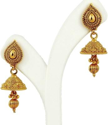 Maalyaa Kundan Jhumka Copper, Brass Jhumki Earring