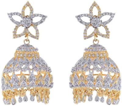 Jewlot Splendid AD 2041 Brass Jhumki Earring
