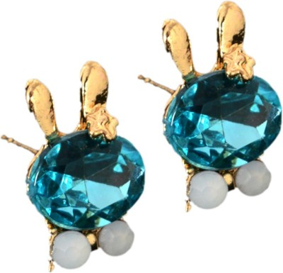 Ak Zopping Collection Alloy turquoise Crystal Earring Metal Stud Earring