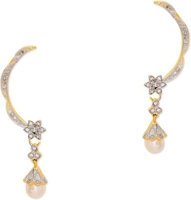 Prita Fancy Drop AD Alloy Cuff Earring