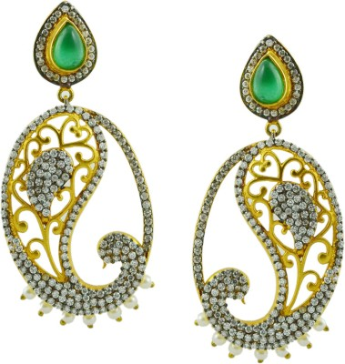 Maalyaa PEACOCK MODEL STUD & DROPS Brass, Copper Drop Earring