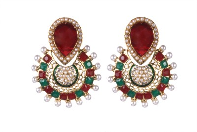 Tatva Fine Pota Work Alloy Dangle Earring