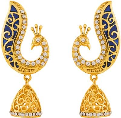 REEVA FASHION JEWELLERY PEACOCK Zinc Jhumki Earring