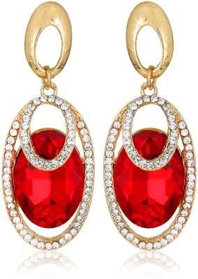 Moedbuille Red Drop Earrings [MBER00376] Cubic Zirconia Alloy Drop Earring