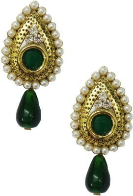 Taruni Green Shining Earrings. Alloy Drop Earring