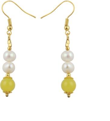 Pearlz Ocean Cool Pearl, Jade Alloy Dangle Earring