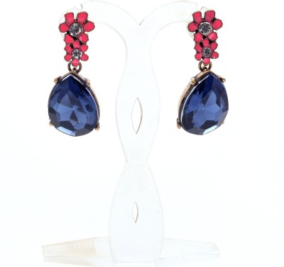 Just Pretty Things Classic Blue Resins Alloy Dangle Earring