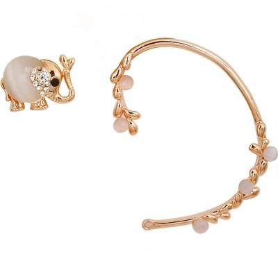 Madclozet Enchanted Elephant Metal Cuff Earring
