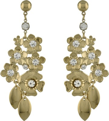 Dimple Creation flower style Alloy Chandelier Earring