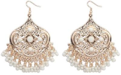 Aaishwarya Remarkable Golden Crystal Alloy Dangle Earring
