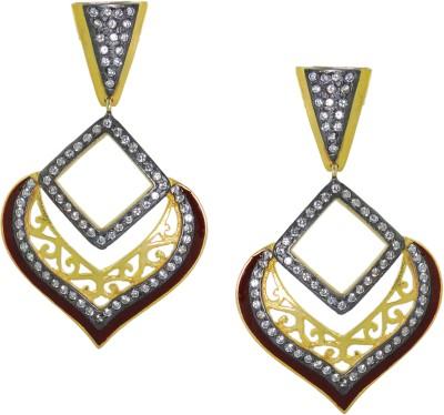 Maalyaa Push Back Brass, Copper Drop Earring