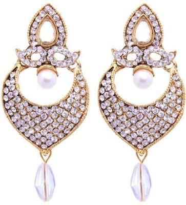 Jewels Guru Bollywood Diva Style Zircon Alloy Dangle Earring