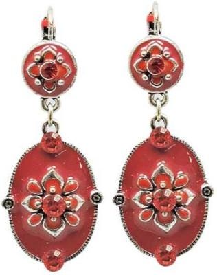 Sanaa Creations ELEGANT PAIR OF RED ENAMEL OXIDIZED FOR WOMEN,S Alloy Drop Earring